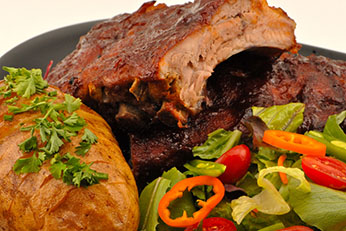 Catering Ribs Potatoes Vegetables