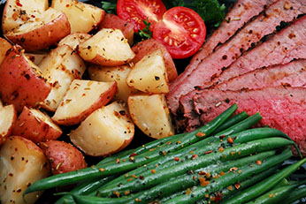 Catering Roast Beef Potatoes Green Beans